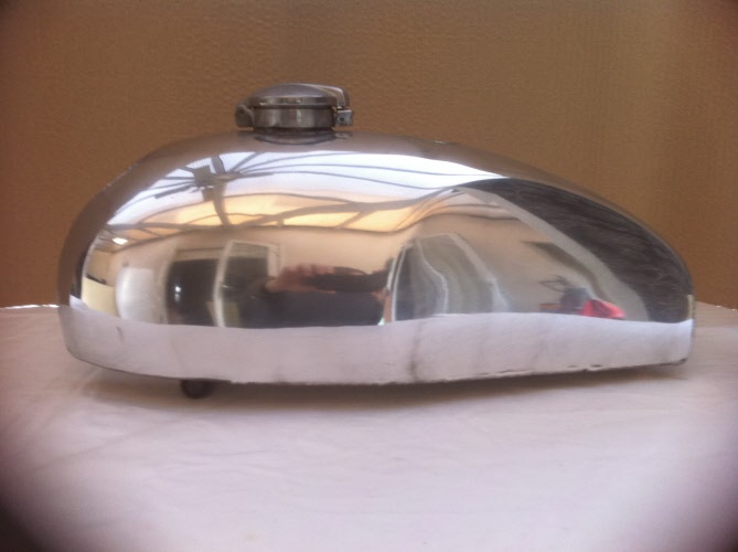 Tiger Cub Trials Fuel Tank is £350 plus a cap, £100 is deposit to place an  order